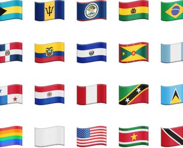 Vector Emoji Flags Americas