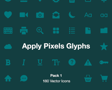 Apply Pixels Glyphs